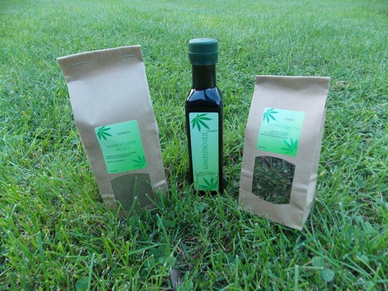 Konopljino olje, moka in čaj