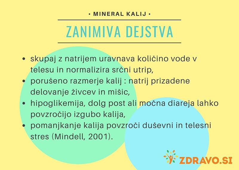 Zanimiva dejstva o mineralu kalij
