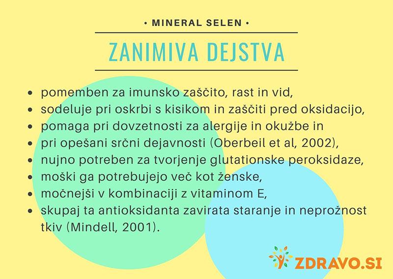 Zanimiva dejstva o mineralu selen